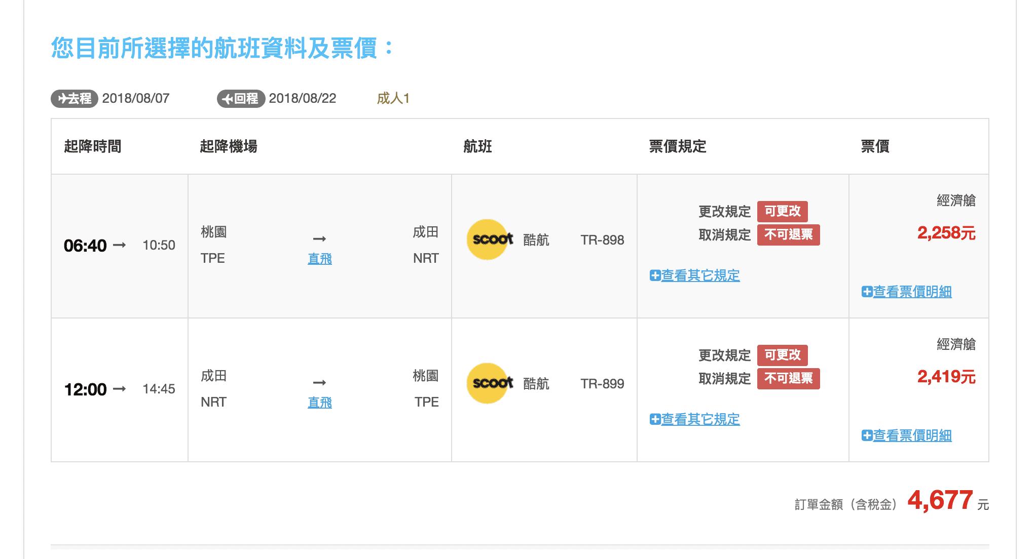 網站近期文章:易飛網ezfly今日十點促銷~虎航全航線最低989元起~(查票:107.6.21)