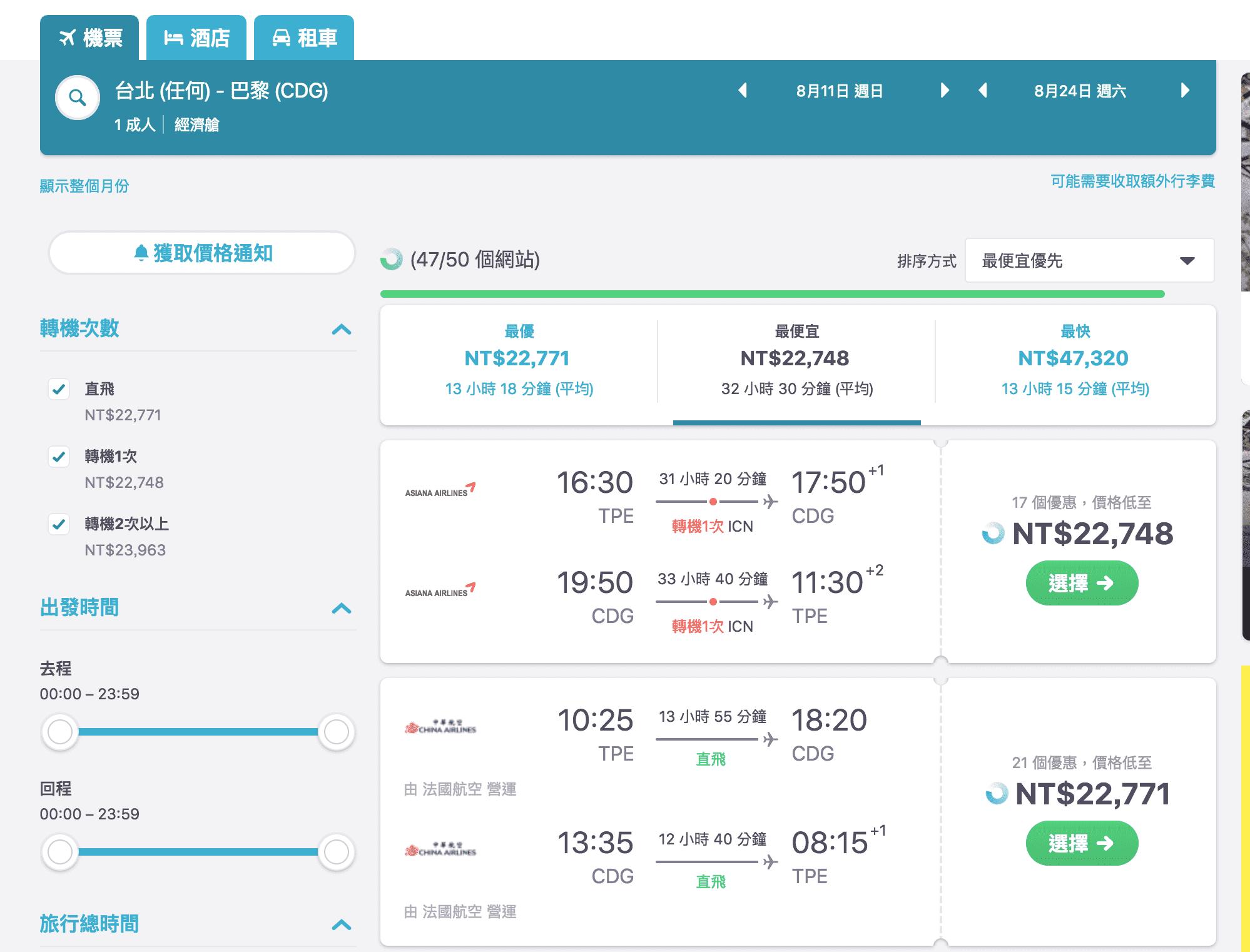 暑假華航巴黎直飛特價,親子巴黎自由行22K,不買會心痛啊~(查票:107.10.5)