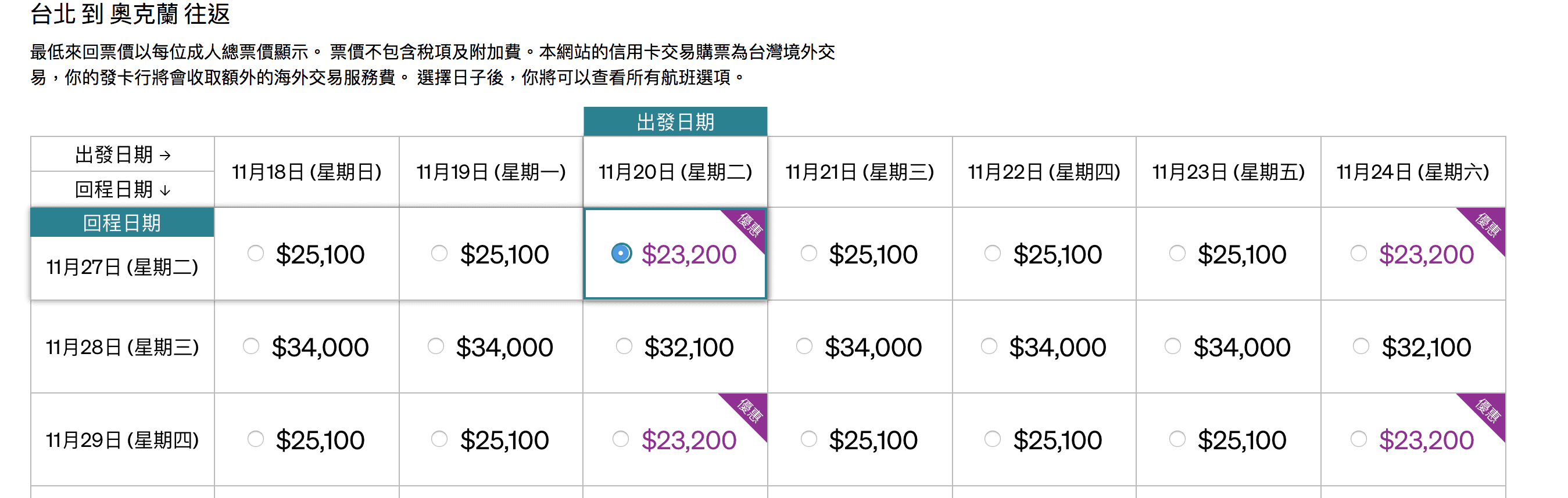 紐西蘭票價持續促銷~15K起~10~12月限定(查票:107.10.15)
