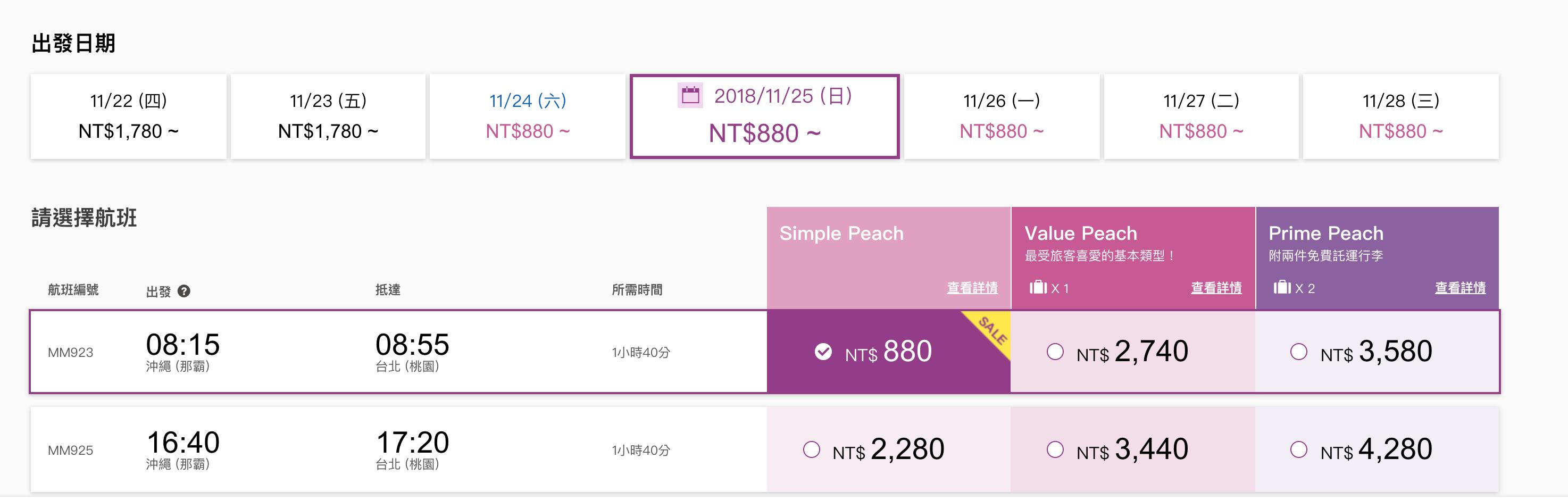 樂桃萬聖節880促銷,全航線都特價喔!過年還可以、關西賞櫻只要5K、還有最低3K不到的來回機票(查票:107.10.27)
