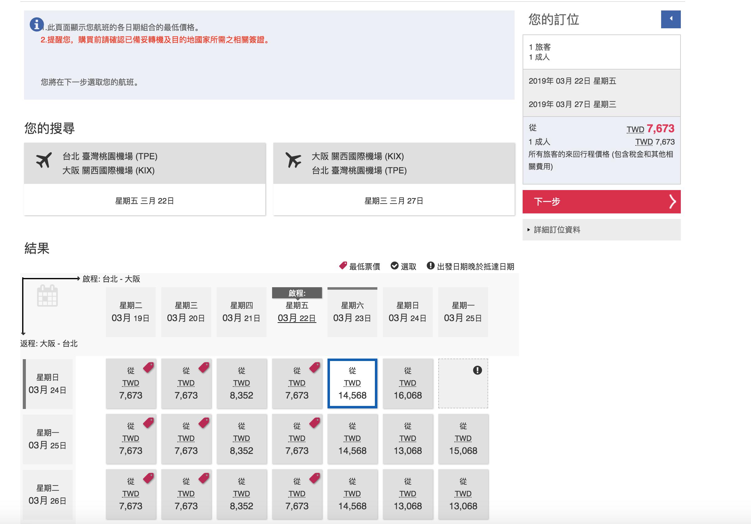 即時熱門文章:華航旅展促銷,輸入折扣碼,大阪櫻花季機票只要6K?北美線只要18K?(查票:107.11.26)