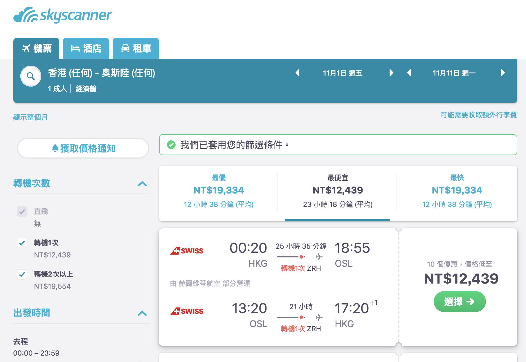整個香港都瘋狂,外站出發歐洲超低價票價,避開七月都有票,最低11K起~(查票:108.2.2)