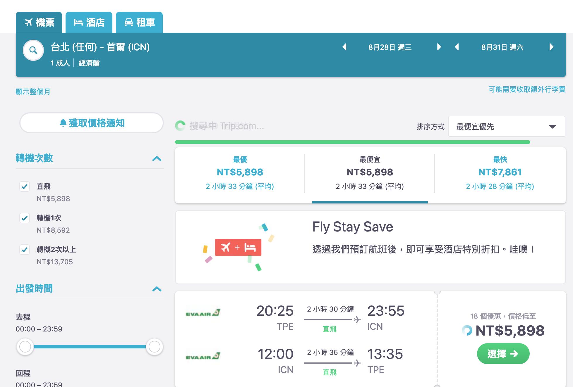 韓國線傳統航空特價,最低6K起~(查票:108.3.29) @走走停停,小燈泡在旅行