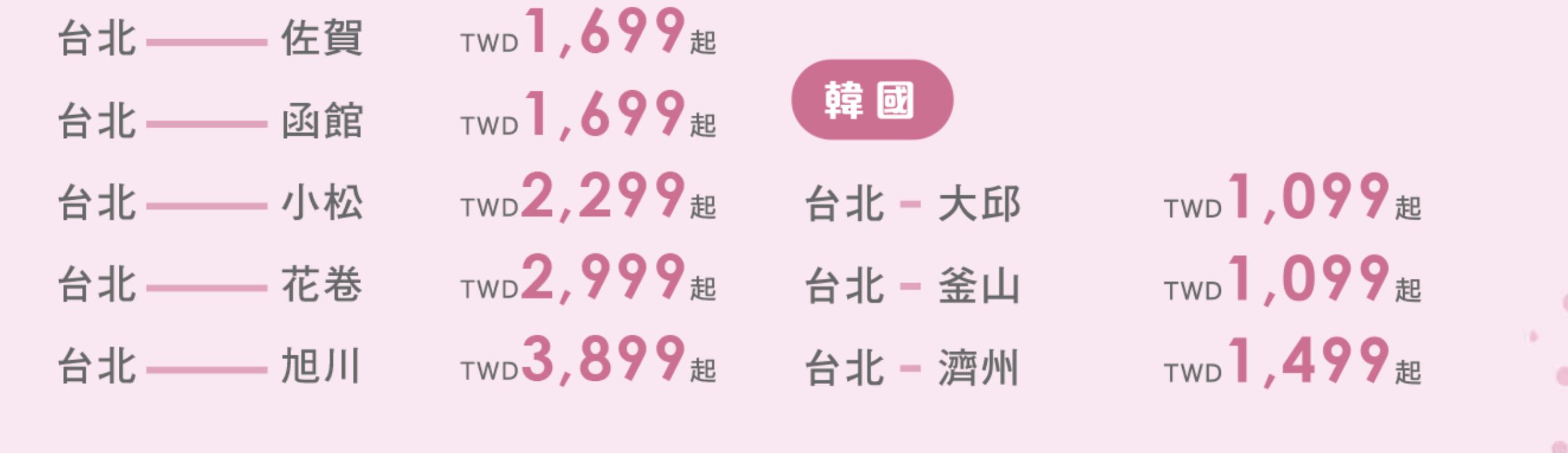 虎航旅展促銷|10點搶票,最低單程未稅999元起~