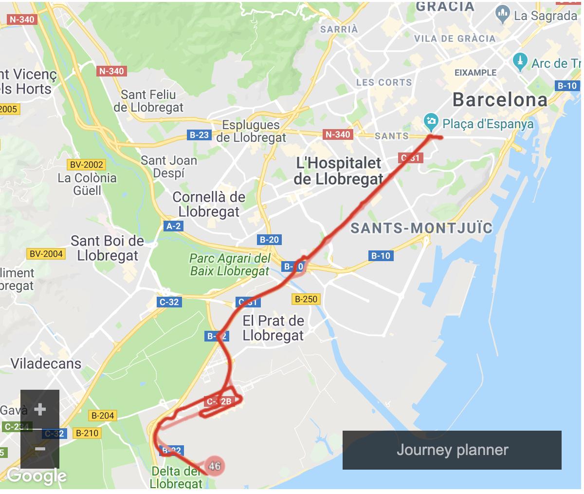 西班牙巴塞隆納BCN機場到市區交通方式|火車、地鐵、機場巴士、機場接送總整理,推薦Aerobus進出機場最方便