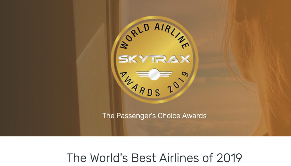 即時熱門文章:2019skytrax排行出爐|航空界奧斯卡名次,前100名名單羅列~卡達重回首獎~2019 world's best airlines