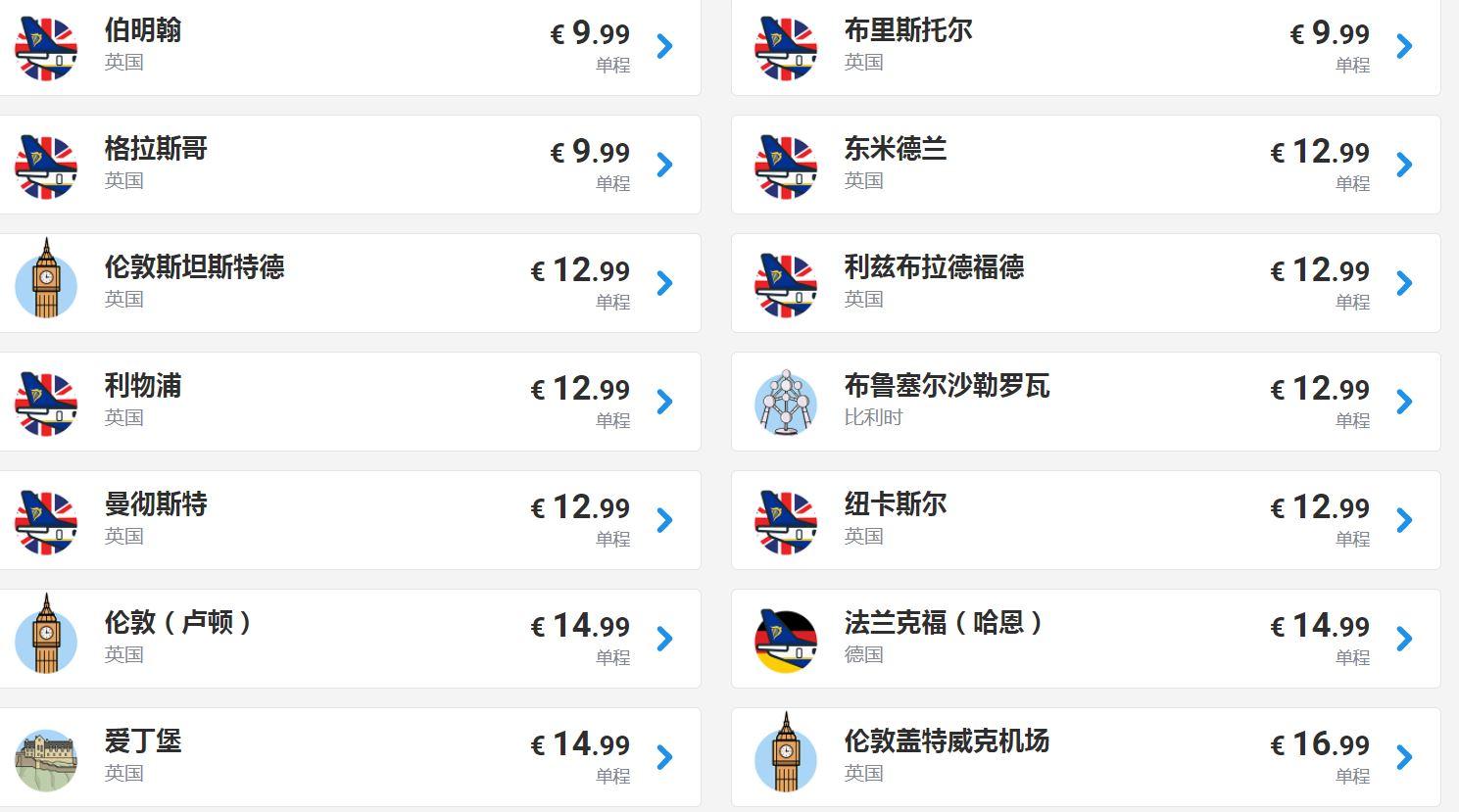 歐洲內陸廉航大促銷,單程最便宜9.99歐元!不同國家城市來回,居然不到一千元!是來回啊!