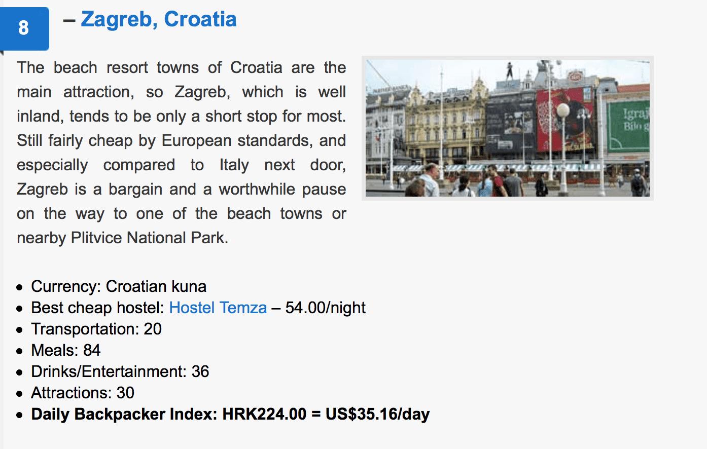 物價低歐洲城市|2018背包客最愛的物價最低歐洲旅行城市前十名