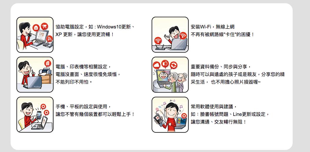 老人學電腦、學用手機或手機電腦新手不用怕~趨勢科技旗艦服務~3C有問題,來電我幫你!