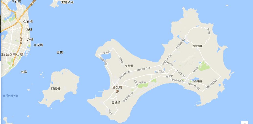 金門分區地圖