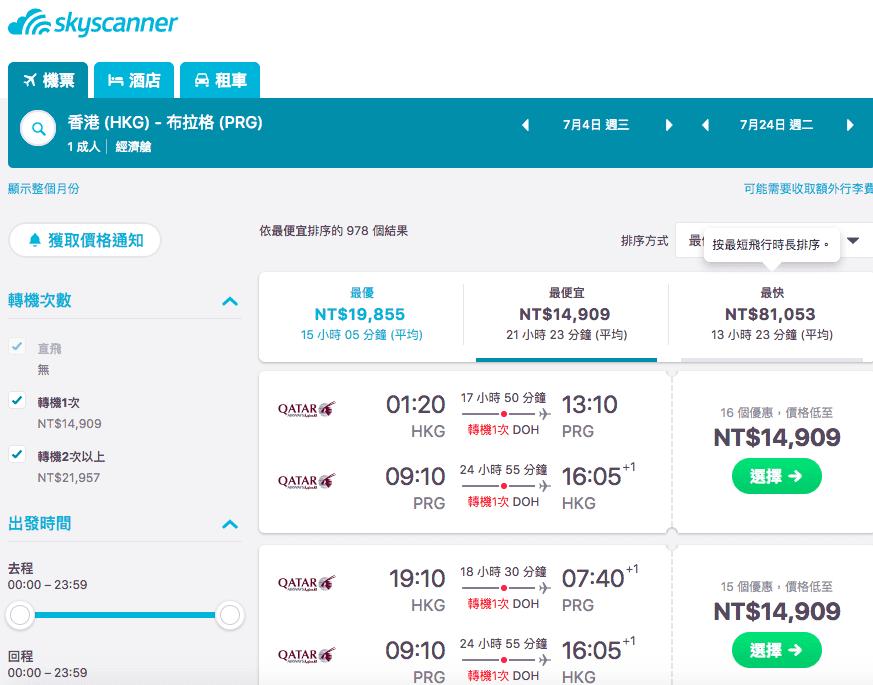 暑假超便宜歐洲票價,外站出發大崩盤!最低只要14K!買旺季划算歐洲票只有現在!(查票時間:107.1.13)