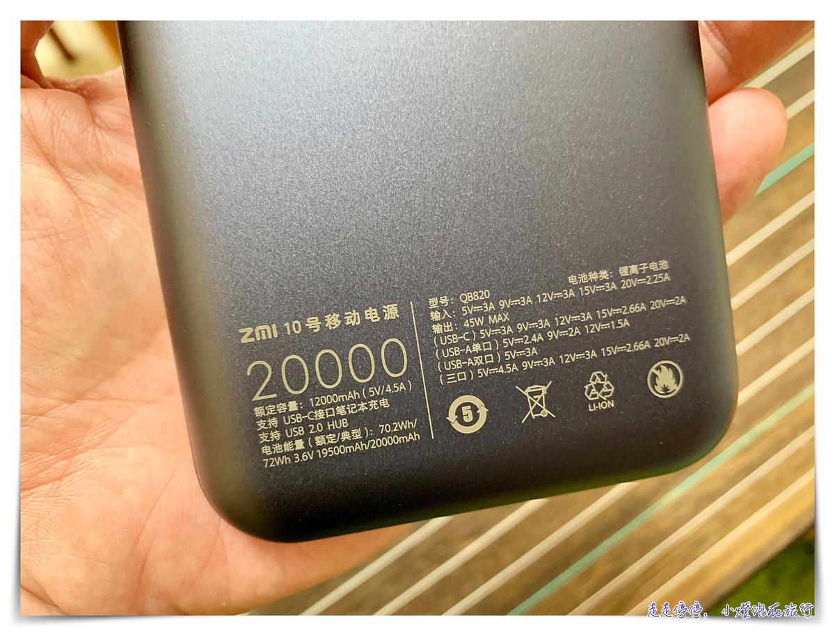 可充MAC PRO筆電的行動電源|紫米 ZMI 10號 PD行動電源,快充,外出使用筆電,免驚! @走走停停,小燈泡在旅行