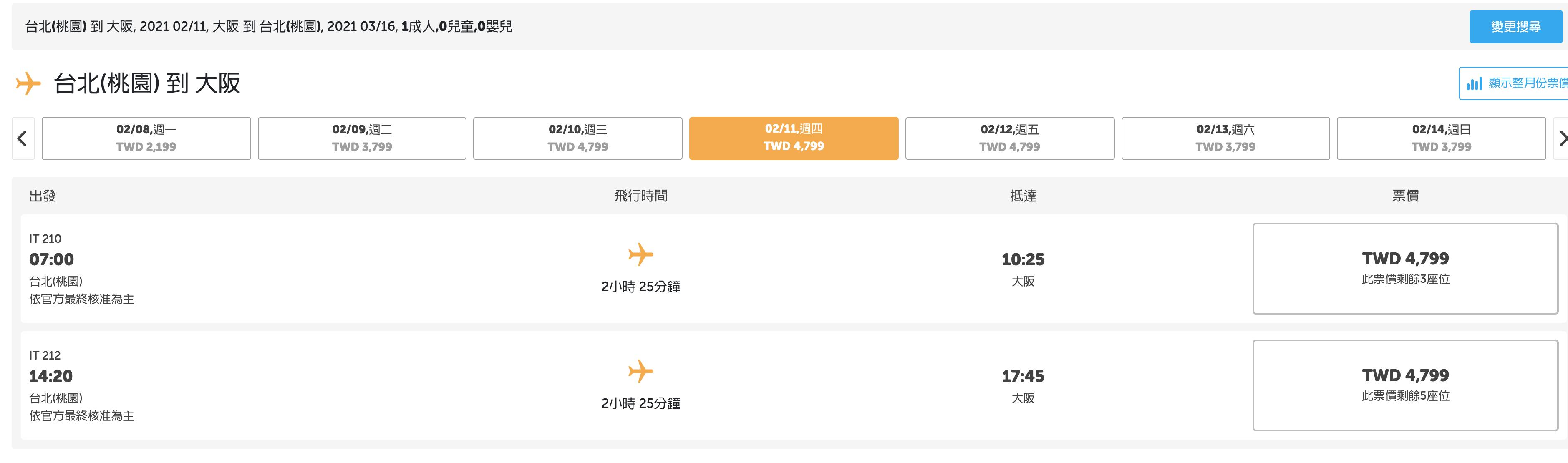 虎航開賣冬季航班,過年日本票價免破萬!(查價:109.5.5)