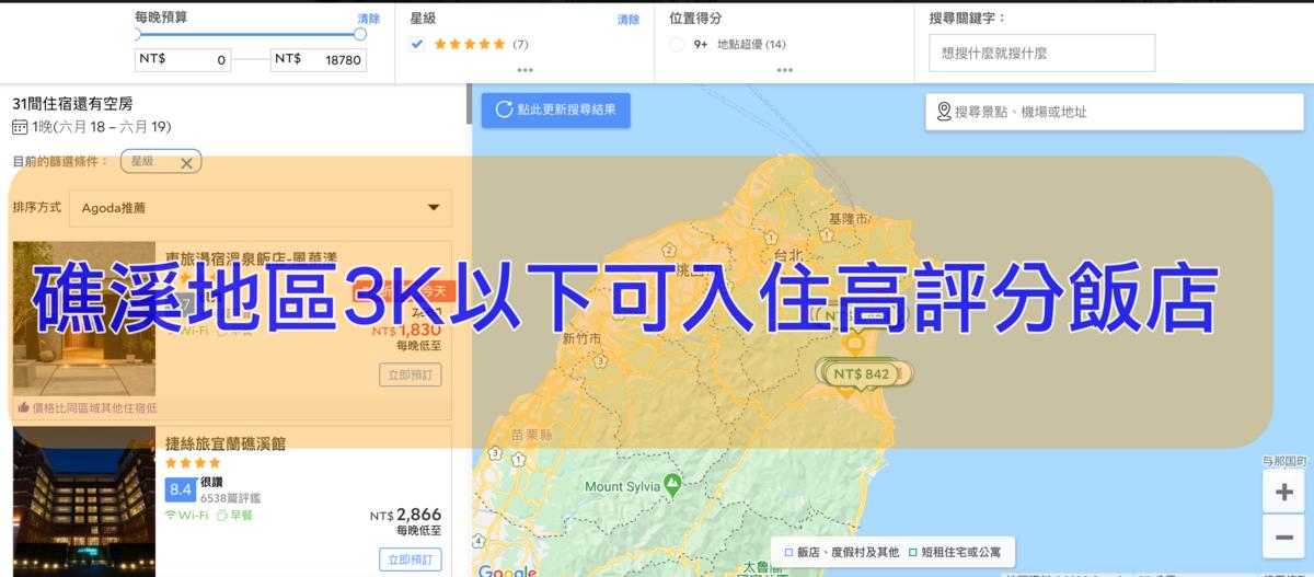 即時熱門文章:礁溪地區3K以下可入住、高評分優惠飯店列表~