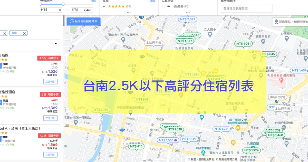 即時熱門文章:台南2.5K以下,正暑假,高評分飯店住宿列表,一樣也是手腳要快啊~