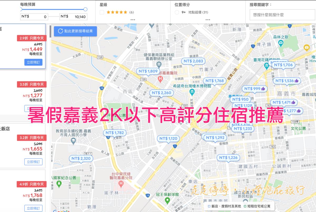 嘉義暑假2K以下可入住高評分酒店列表,暑假出遊南台灣!