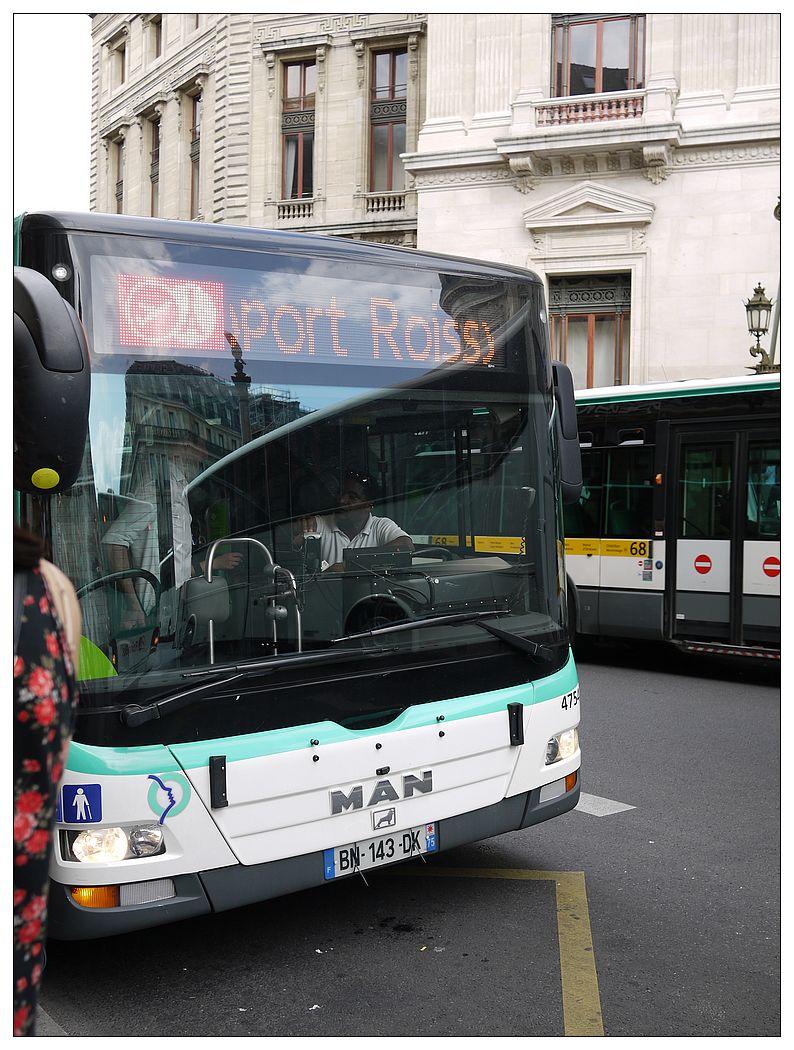 巴黎戴高樂機場巴士ROISSY BUS搭乘|Opéra歌劇院區住宿最佳使用往來戴高樂機場交通工具