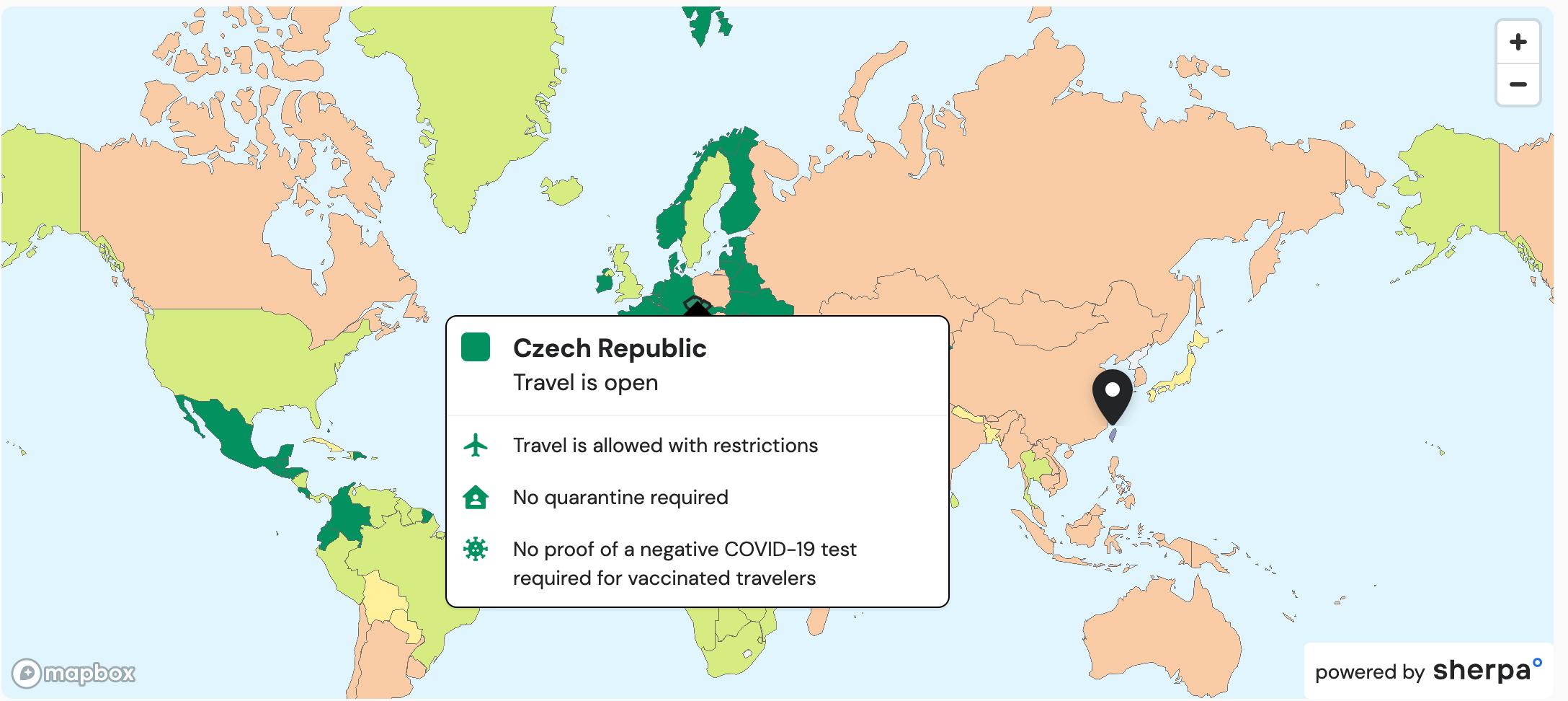 哪些國家開放旅遊了?入境該國疫苗接種規定是什麼?covid-19世界旅遊開放狀況網站查詢,可查詢不同國家出發、持有哪些護照可入境哪些國家?