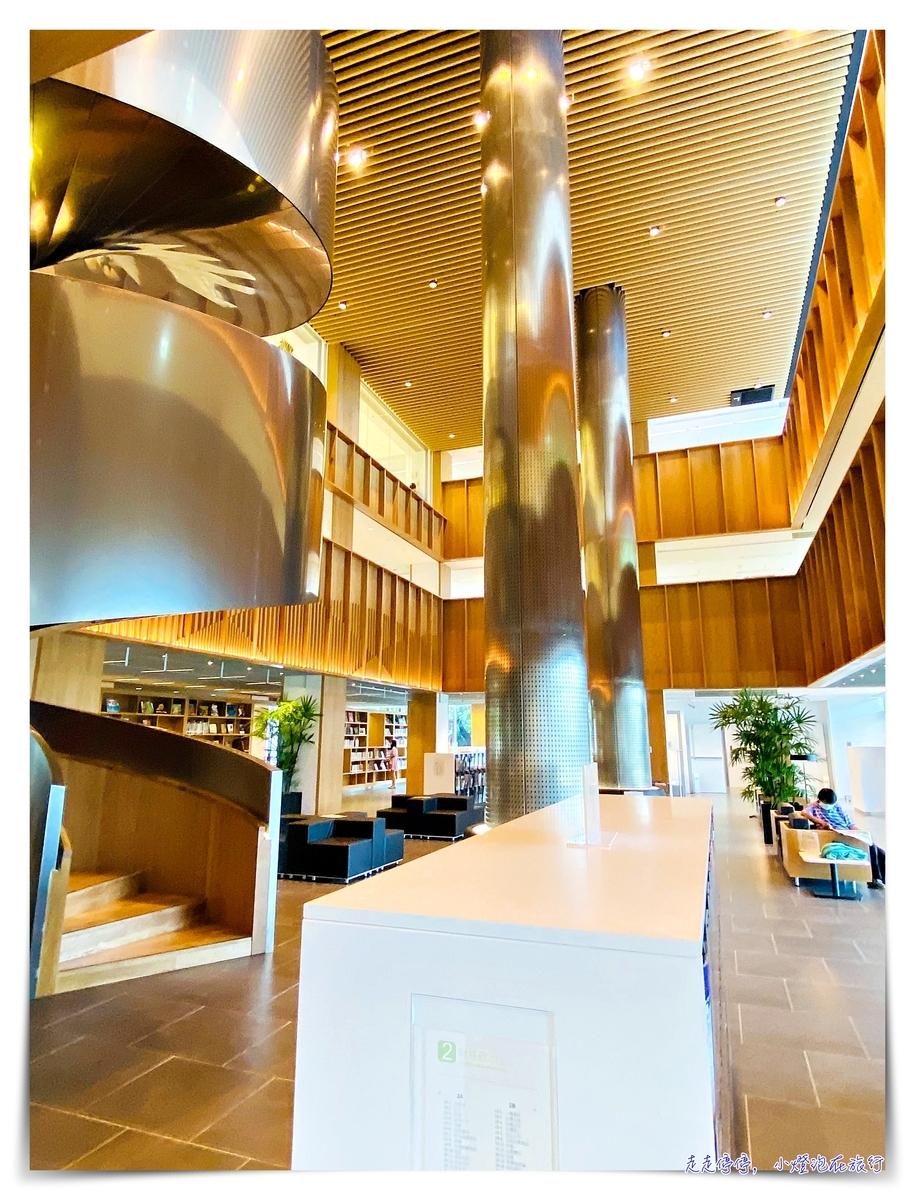屏東總圖書館|南台灣最美森林系圖書館,每一個仰頭,都在綠色的呼吸中