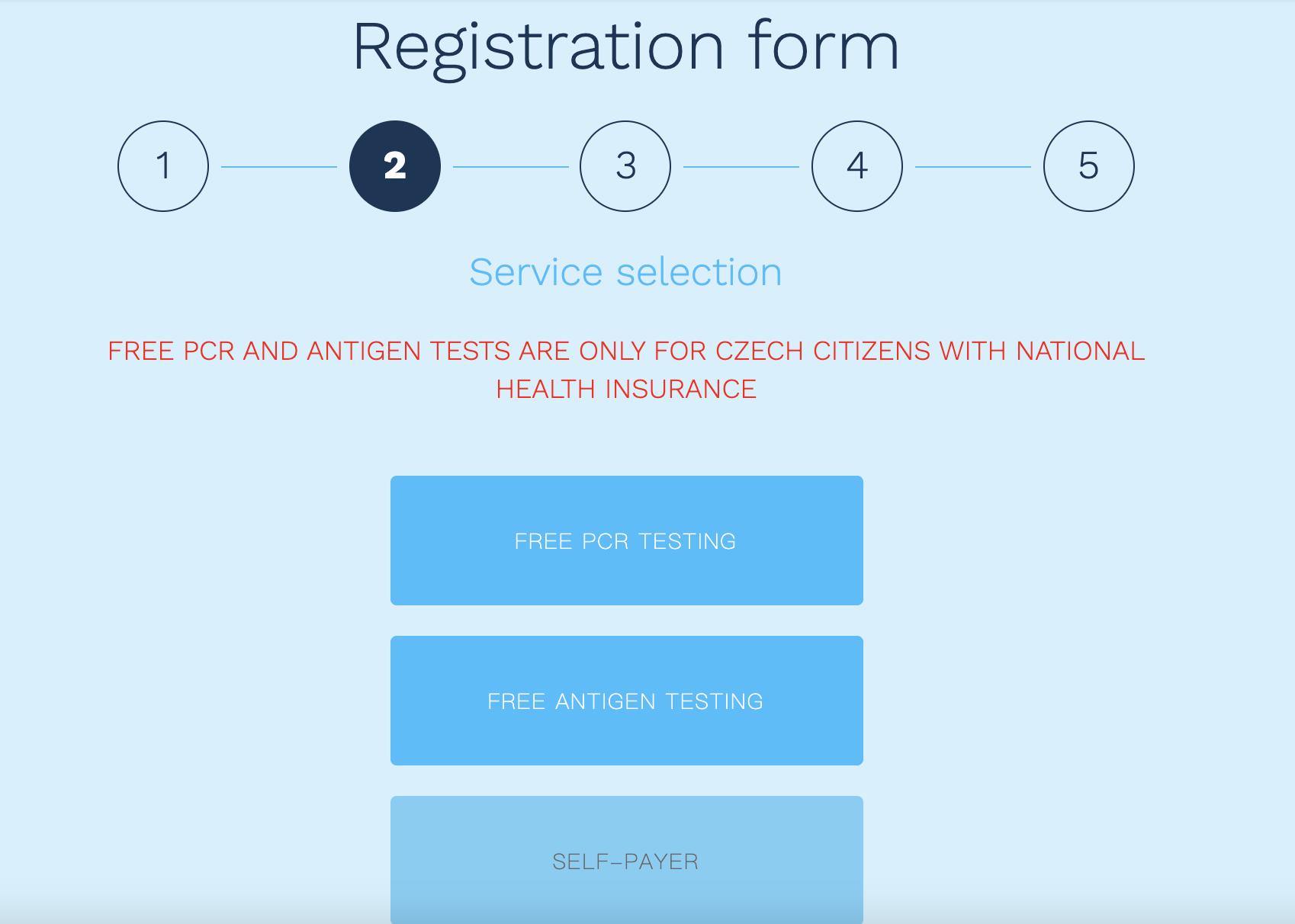 布拉格PCR檢測預約|網站申請、現場檢測、價位分別
