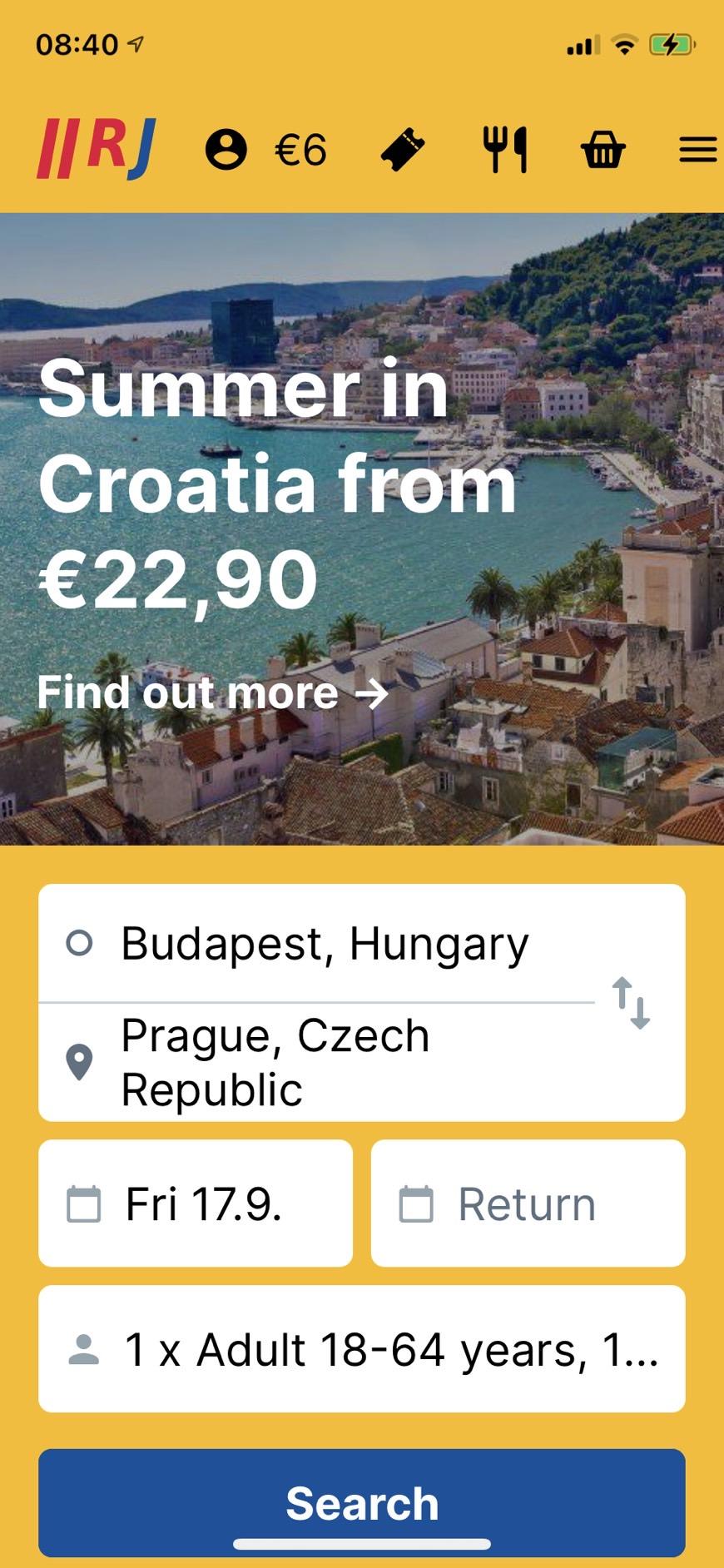 捷克巴士推薦 REGIOJET,黃色大巴士(也有火車),有wifi、有飲料、有廁所、購票方式
