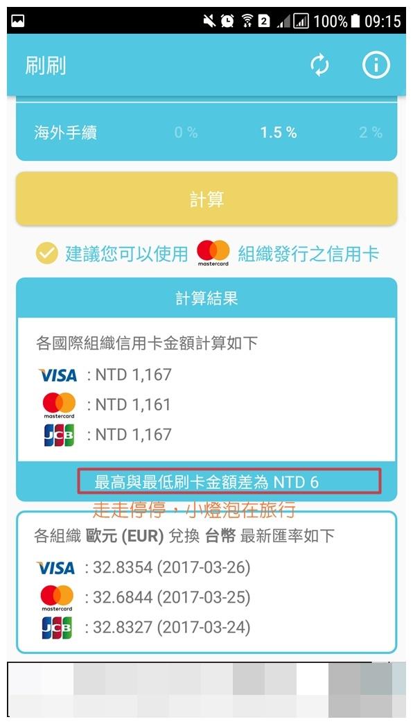 旅行好用APP|刷刷Swipner・海外消費刷卡到底Visa、Master、JCB哪個划算?這個APP會告訴你~ @走走停停,小燈泡在旅行