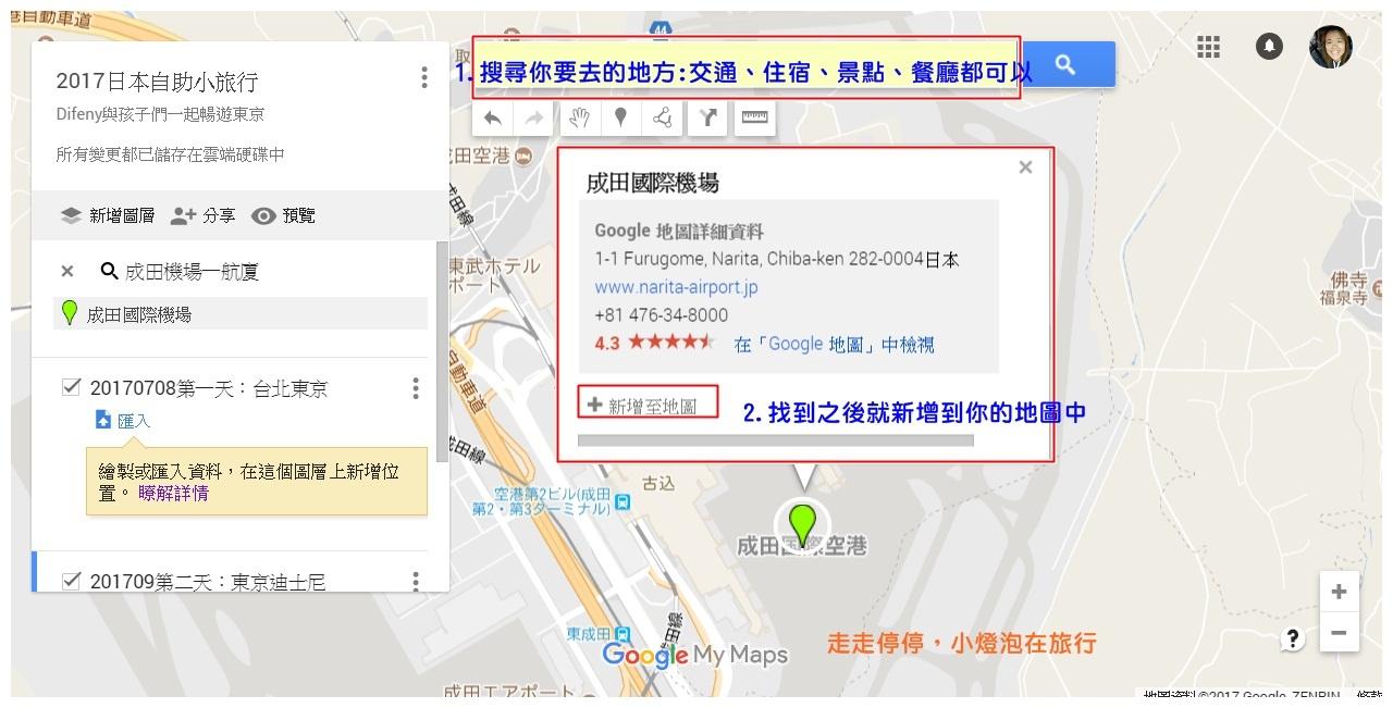 旅行行程規劃超好用幫手|Google map我的地圖my map,旅行行程好工具,規劃、路徑、標注,一次完成~製作我的地圖簡易版教學