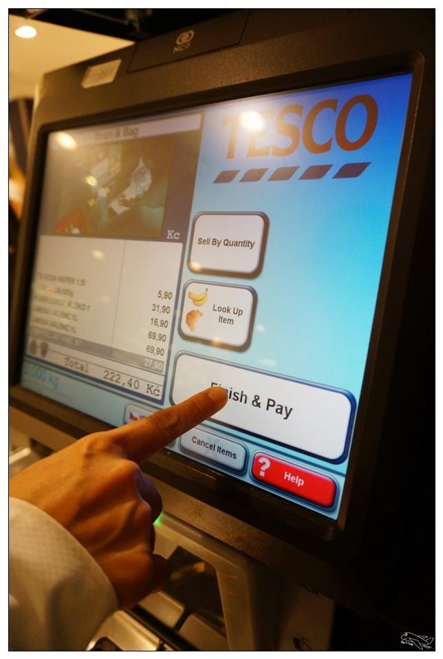 布拉格大賣場|Tesco大採買。自動付款機超有趣~在歐洲,自己煮飯最省錢~