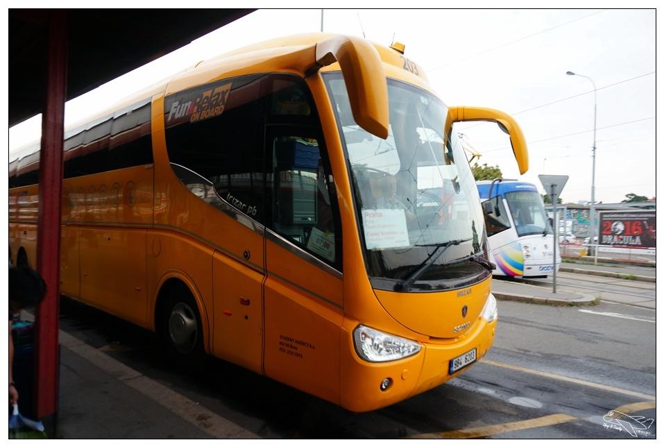 布拉格到克魯倫夫|Prague到Český Krumlov.Student Agency(SA巴士)購票與搭乘記錄