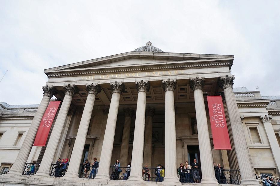 倫敦景點|英國國家美術館National Gallery,精彩免費景點~莫內、梵谷等精彩畫作免費欣賞!
