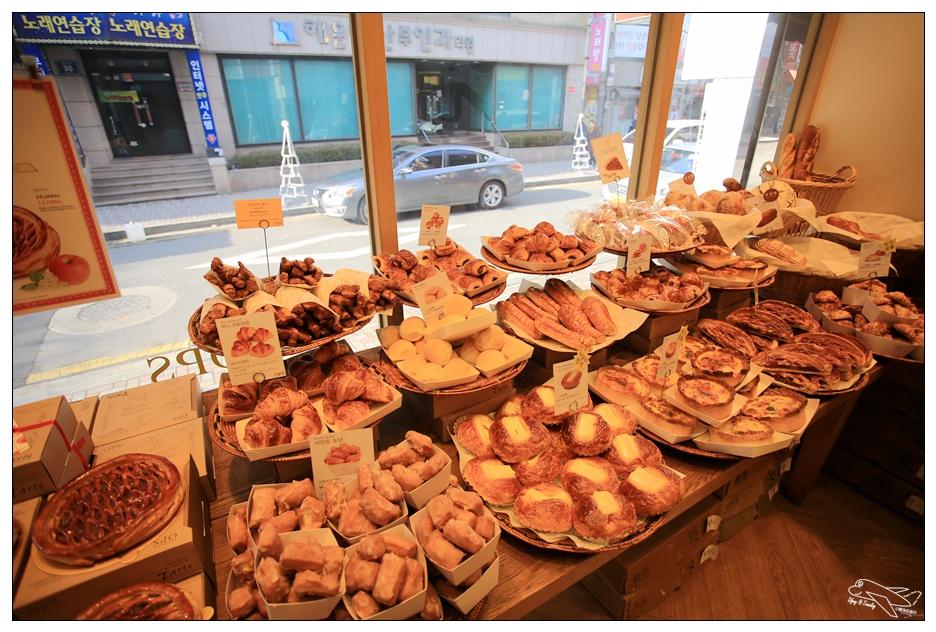 釜山美食|옵스ops法式麵包店。釜山三大必吃麵包店初體驗~