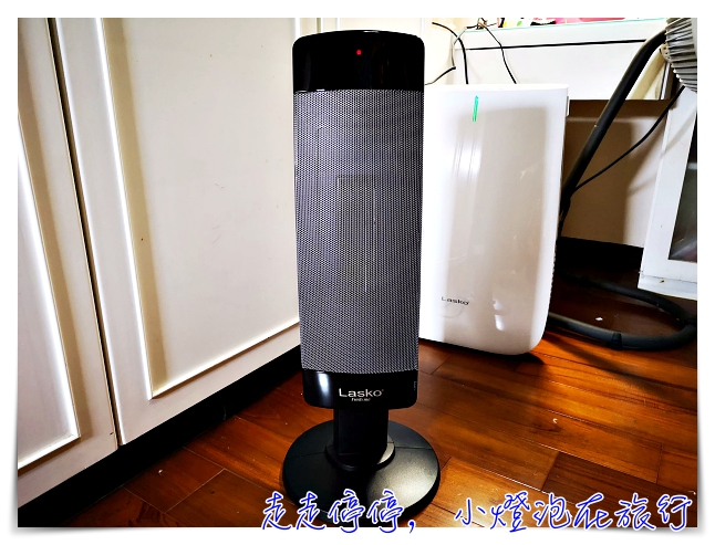 美國知名品牌LASKO團購|黑俠客 兩段式加熱流線型陶瓷恆溫電暖器 CS27600TW,輕盈、聰明、好操作,讓冬天不再冷颼颼~