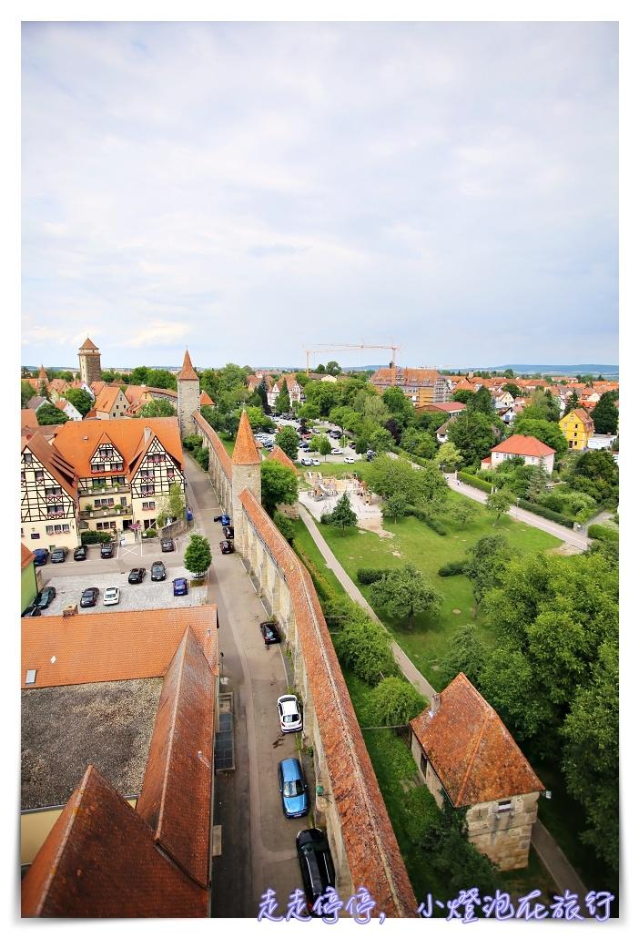 羅騰堡景點|雷達門Röder Tor登高,遠眺羅騰堡的好視角~陶伯河上的紅色城堡