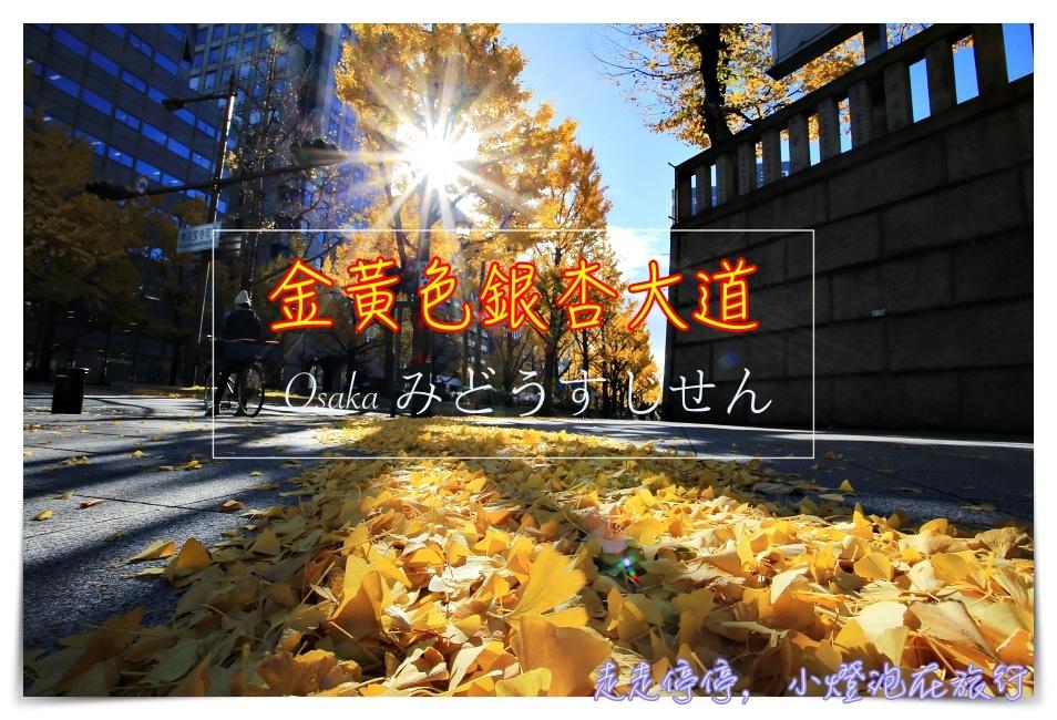 深秋的黃色饗宴|金黃色大阪御堂筋銀杏大道,走一趟金黃、走一趟心靈~