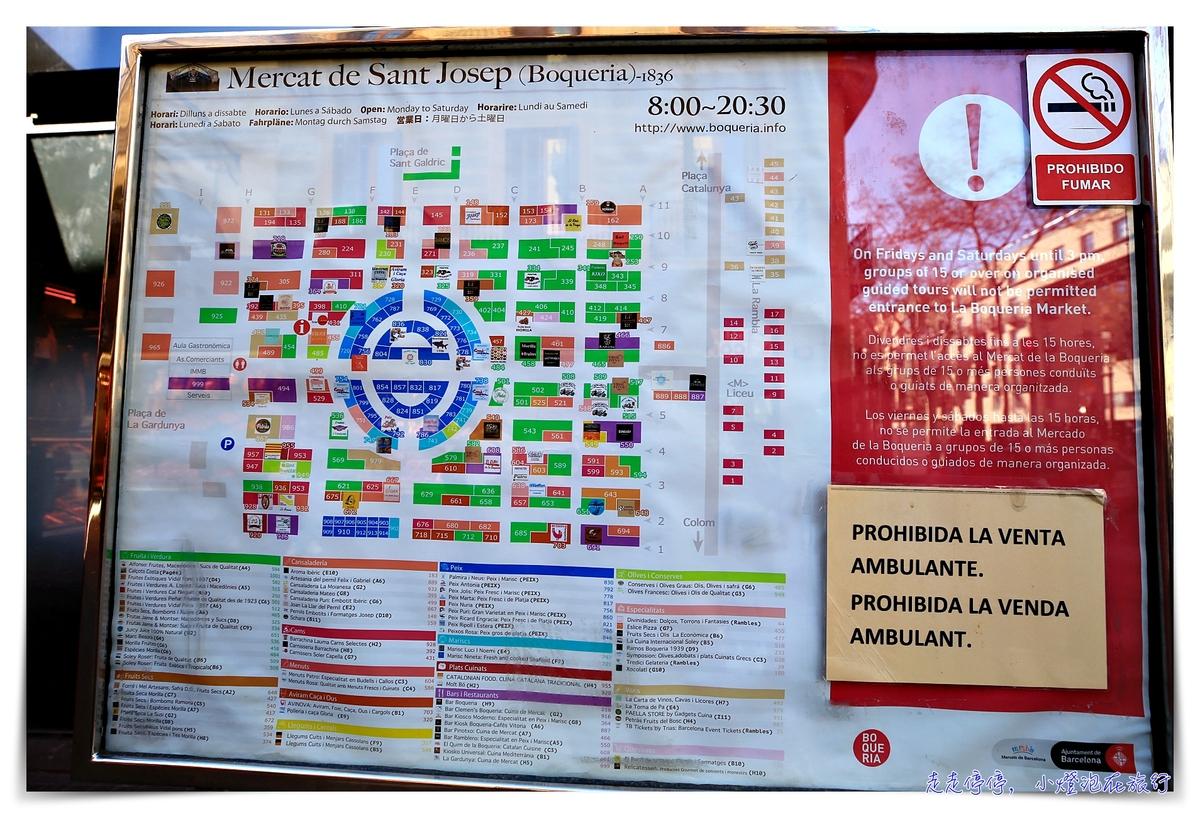 巴塞隆納波格利亞Mercat de laBoqueria市場|水果、果汁、點心通通豪放好便宜,CNN報導世界十大最新鮮、浮誇市場之一