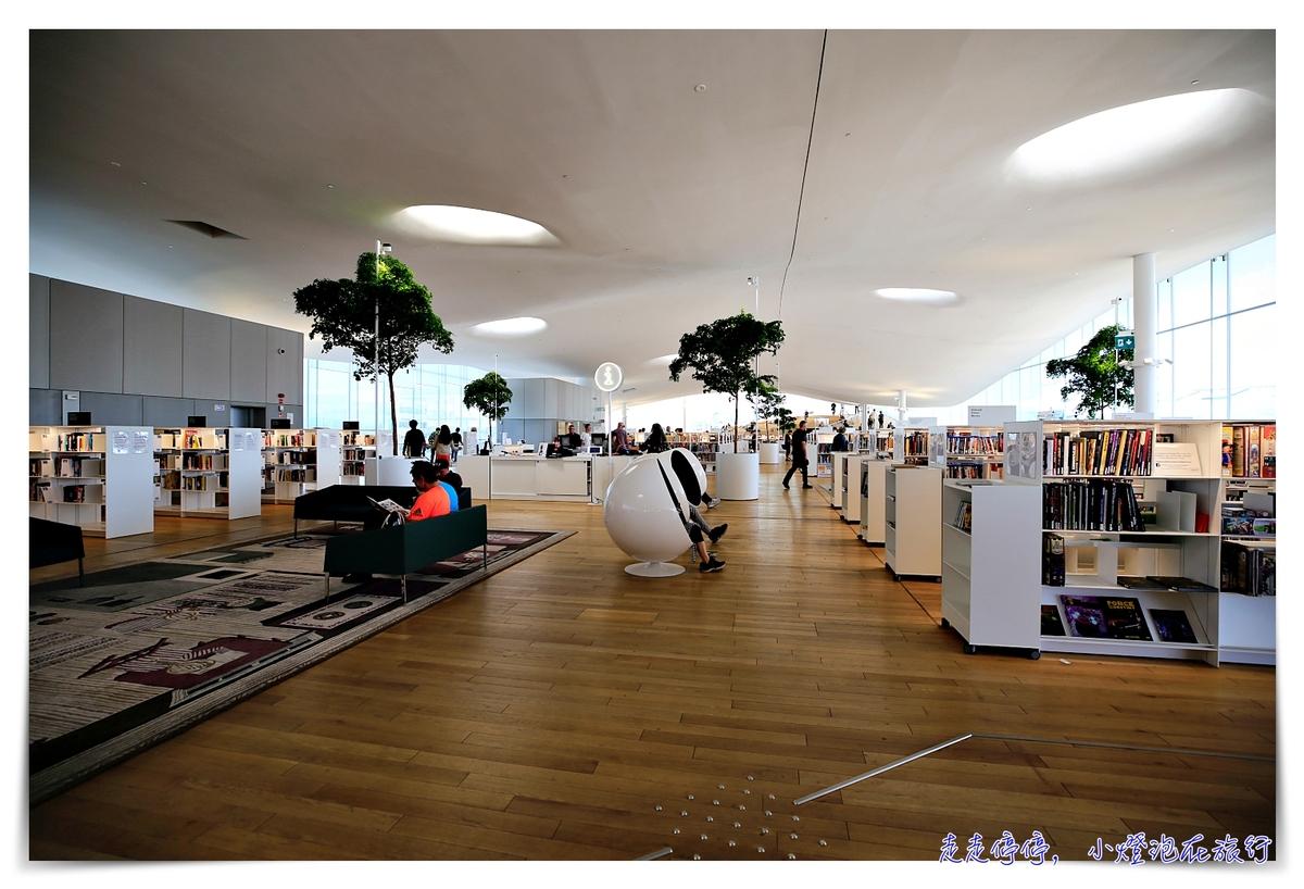 芬蘭赫爾辛基圖書館|Helsingin keskustakirjasto Oodi,頌歌圖書館北歐設計、開放、實用、寬敞、進中央車站~